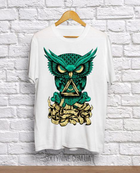 футболка нефритовая сова